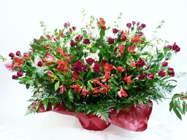 新装開店祝いへ贈る花