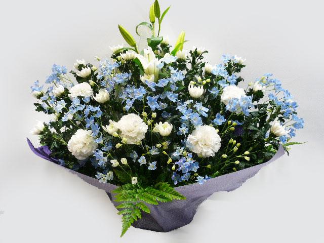 ブルー入り 供花