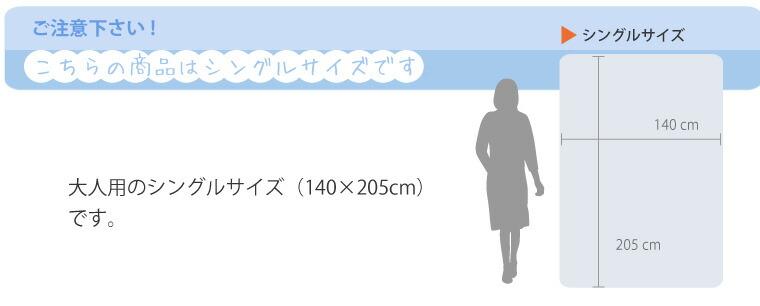 こちらはシングルサイズです。