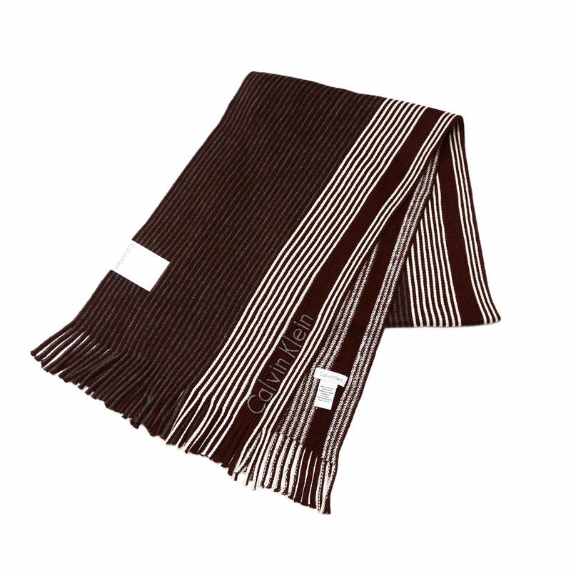 カルバンクライン Calvin Klein マフラー ブラウングレイ 77300