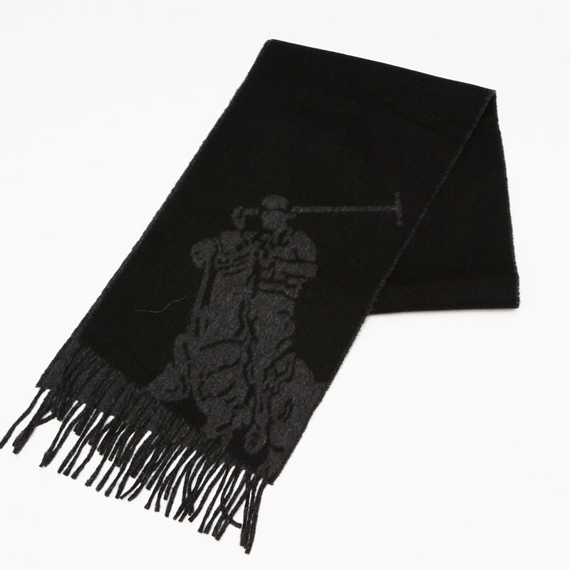 ポロ ラルフローレン Polo Ralph Lauren マフラー ブラック 6F0515