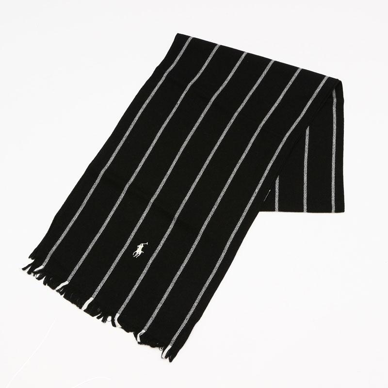 ポロ ラルフローレン Polo Ralph Lauren マフラー ブラック 6F0524