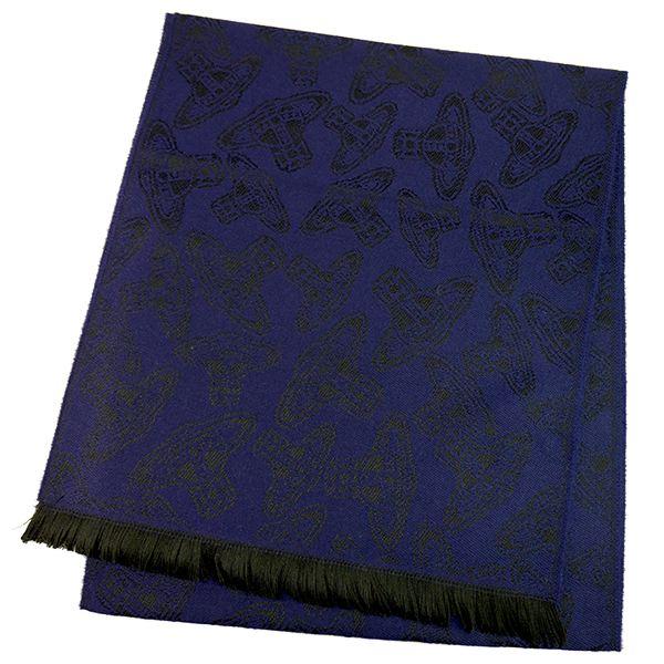 Vivienne Westwood ヴィヴィアンウエストウッド マフラー 54909032-24S32-P80 229 BLUE.CHINA