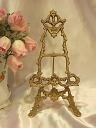 Stylish brass easel classic: s size BRASS brass brass antique gold interior decoration store