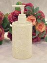 An acrylic column type soap bottle of the rose: Small size (white Ramelow's:) B)