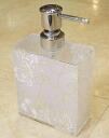 Rose acrylsorpdispencer (for foam): white glitter rose B