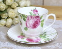 Rose coffee cup & saucer