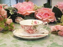 Spoon with antique rose Cup & Saucer