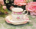 Pink rose with a spoon Coffee Cup & Saucer