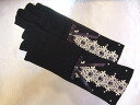 Lace & Ribbon UV gloves (pinky promise type): black (UV protection gloves) 00p20oct14