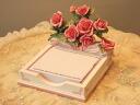 Rose-motif nice ♪ note & pen holder