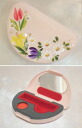 ☆ ☆ Shining Deco cute! hand-painted rose seal case (with cinnabar ink): flower mix