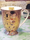 "A masterpiece mug cup made by ceramics: Klimt ""kiss"" mug cup masterpiece Klimt ""kiss"""