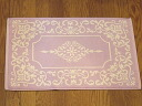 Terry cloth bath mats: Arabesque (Lavender)