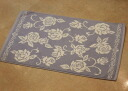 Terry cloth bath mats: Roseline (blue) rose rose rose Terry cloth bath mat cotton 100% cotton