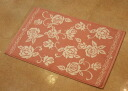 A toweling bath mat: 100% of Rose line (pink) rose rose Rose toweling bath mat cotton cotton