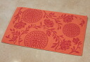 A toweling bath mat: 100% of ethnic Rose (orange) rose rose Rose toweling bath mat cotton cotton