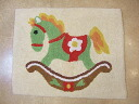 Cotton mat: 100% of wooden horse toweling bath mat cotton cotton