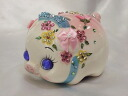 Glittery gorgeous! pink pig money box (size S)