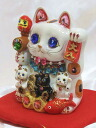 The decoration was powered up! Glittery gorgeous ♪ Deco merchants lucky Maneki Neko (m) size money box business thriving Grand opening celebration pass pray for us celebrate family luck Deco Maneki Neko piggy bank ornament
