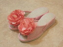 Big Rose pantaloons slippers: Pink heel slippers room shoes fashion visitor slippers