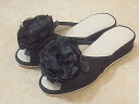 Big Rose pantaloons slippers: Black heel slippers room shoes fashion visitor slippers