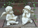 Sitting Angel: pair Angel figurine Angel objet gardening Gift Giveaway popular picks