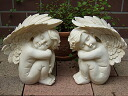 Very cute! pretty Angels: pair Angel figurine Angel objet gardening featured gifts giveaway popular