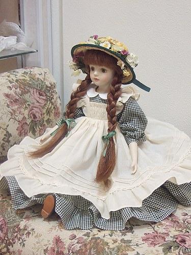 ki,一个娃娃绿山墙的安妮的圆子浓汤娃娃站浓汤娃娃头发安玩偶礼