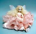 Wakatsuki Marin child flower fairy doll! elfinflory: Flora (Pink) Bisque dolls fairy flower fairy doll gift festive keepsake pottery