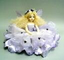 Wakatsuki Marin child flower fairy doll! elfinflory: Flora (light purple) Bisque dolls fairy flower fairy porcelain dolls gift celebration memorabilia pottery P06Dec14