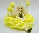 Fairy doll ♪ L fin Florey of the Mariko Wakatsuki flower: Sweet pea (yellow) bisque Dole fairy flower fairy ceramics doll gift celebration souvenir ceramics