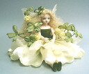 Fairy doll ♪ L fin Florey of the Mariko Wakatsuki flower: Four-leaf clover bisque Dole fairy flower fairy ceramics doll gift celebration souvenir ceramics