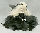 Wakatsuki Marin child flower fairy doll! elfinflory: Noel ( Noir ) Bisque dolls fairy flower fairy doll gift festive keepsake pottery