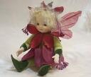 Wakatsuki Marin child flower fairy doll! リトルエルフィン: フュッシャ (purple) Bisque dolls fairy flower fairy doll gift festive keepsake pottery