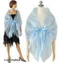 ★Show cute two pieces of SALE ★ party bolero blue organdy & race stack shawl wedding ceremony invite clothes second party clothes entrance ceremony Seven-Five-Three Festival; is deep-discount