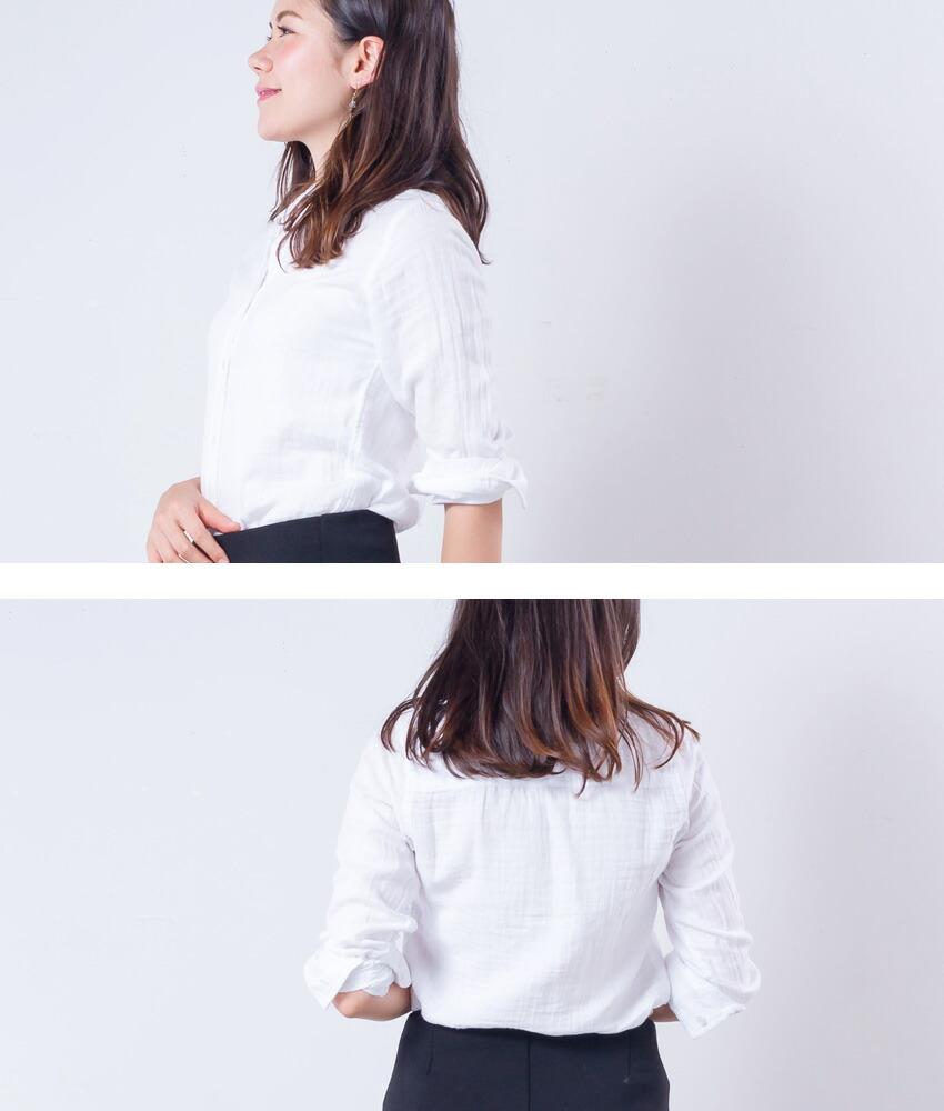 ETFIL Wガーゼシャツ
