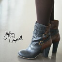 Jeffrey Campbell BI-COLOR LEATER WRAP STRAP BOOT two-tone leather lips strap boots