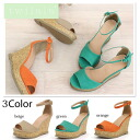 Strappy heeled Sandals Women's shoes shoes natural spring summer autumn winter wedge sole Cork-soled sandal strap.