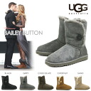 UGG (UGG) boots short boots Bailey button genuine moccasin BOA mokomoko pettanko pettanko boots fall/winter sand chestnut chocolate black grey cheap sale sale outlet price shoe store popularity rankings 2013