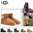 UGG (UGG) boots short boots minibailey button AE / ladies agubuzu Shearling Sheepskin moccasin Babyz winter sand chestnut chocolate black grey