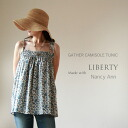 Liberty style with Nancy Ann gathered Camisole tunic dress blue [Japan]
