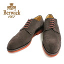 BROWN (Brown) Berwick Berwick 3012 out blades straight tip suede nubuck leather shoes Brown mens = = 10P20Sep14.