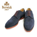 NAVY (Navy) Berwick Berwick 3012 out blades straight tip suede nubuck leather shoes Navy Blue men's = = 10P20Sep14.