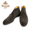Berwick Berwick 307 BROWN: Brown chukka boots 3 hole suede leather shoes Brown mens = = 10P20Sep14