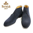 NAVY (Navy) Berwick Berwick 307 chukka boots 3 hole suede leather leather shoes Navy Blue men's = = 10P20Sep14