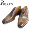 Brecos BRE COS 4855 BRANDY/TAUPE (Brown) wing tip in wing root leather shoes Brown mens business = = 10P20Sep14