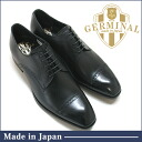 GERMINAL-germinal 8302 BLACK black leather shoes men's dress business shoe black punched Cap outside blades straight tip formal wedding black