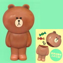 HELLO, all FRIENDS LINE LINE FRIENDS brown BIG case ☆ one kind★