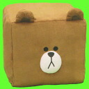 Shikaki LINE FRIENDS BIG plush ☆ car ★ HELLO, FRIENDS LINE